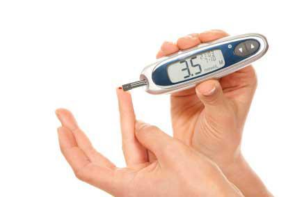 pomiar poziomu glukozy we krwi